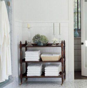 Clever Solutions Bathroom Towel Storage Ideas