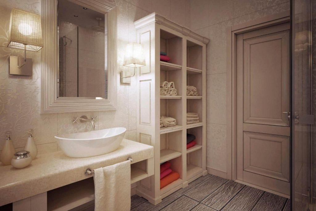 Sink type in rustic style bathroom ideas