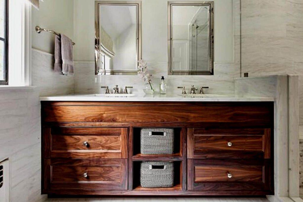 Vanity Style In Rustic Bathroom Design