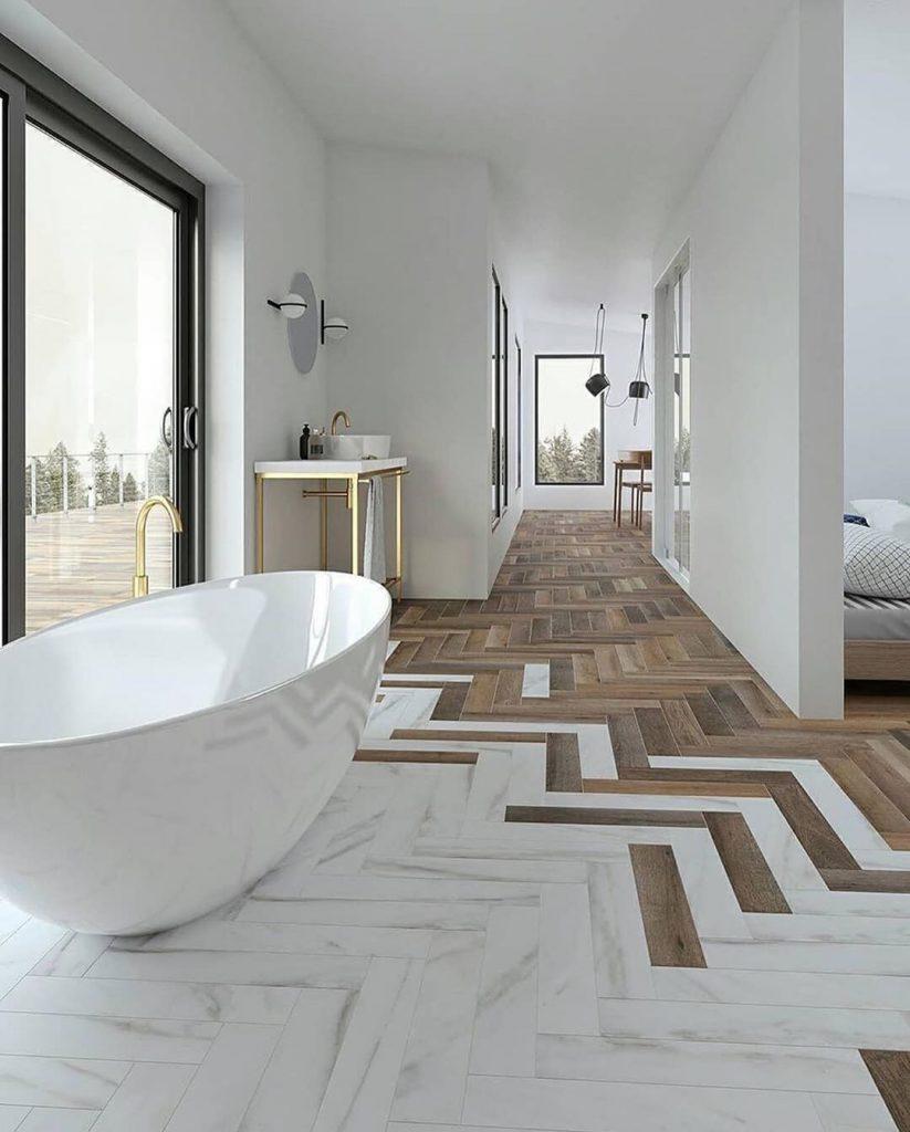 Transition Bathroom Style