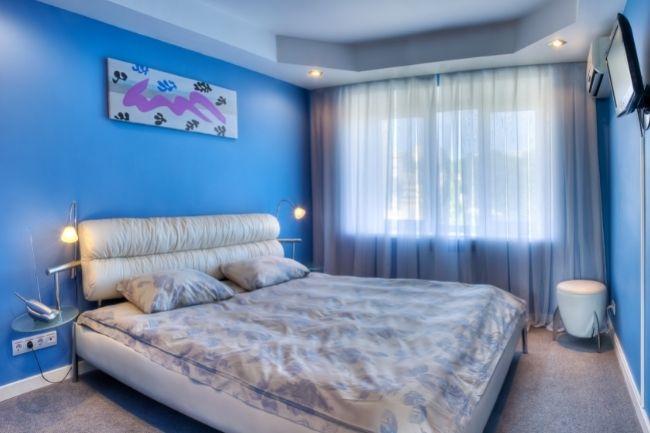 Blue Mediterranean Bedroom Design Ideas on Budget 1
