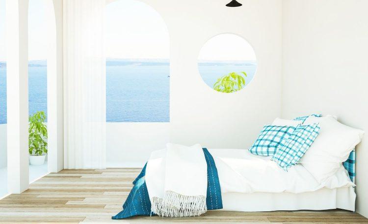 Blue Mediterranean Bedroom Design Ideas on Budget 6