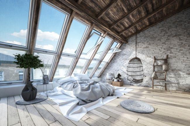 Simple Industrial Bedroom